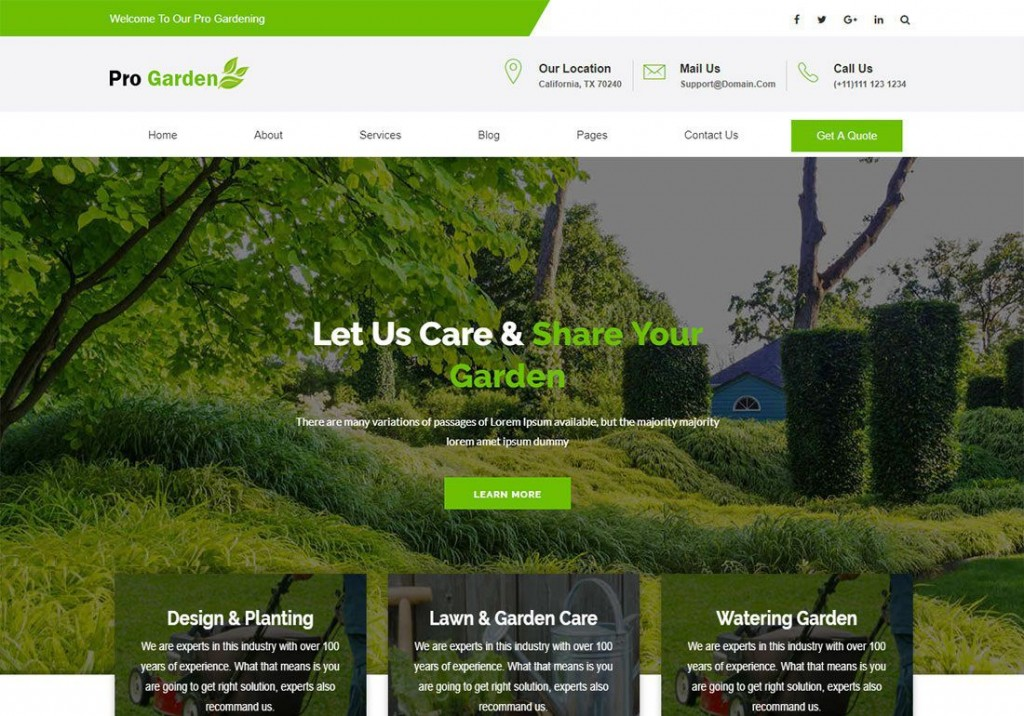 000 Frightening Lawn Care Website Template Sample Large