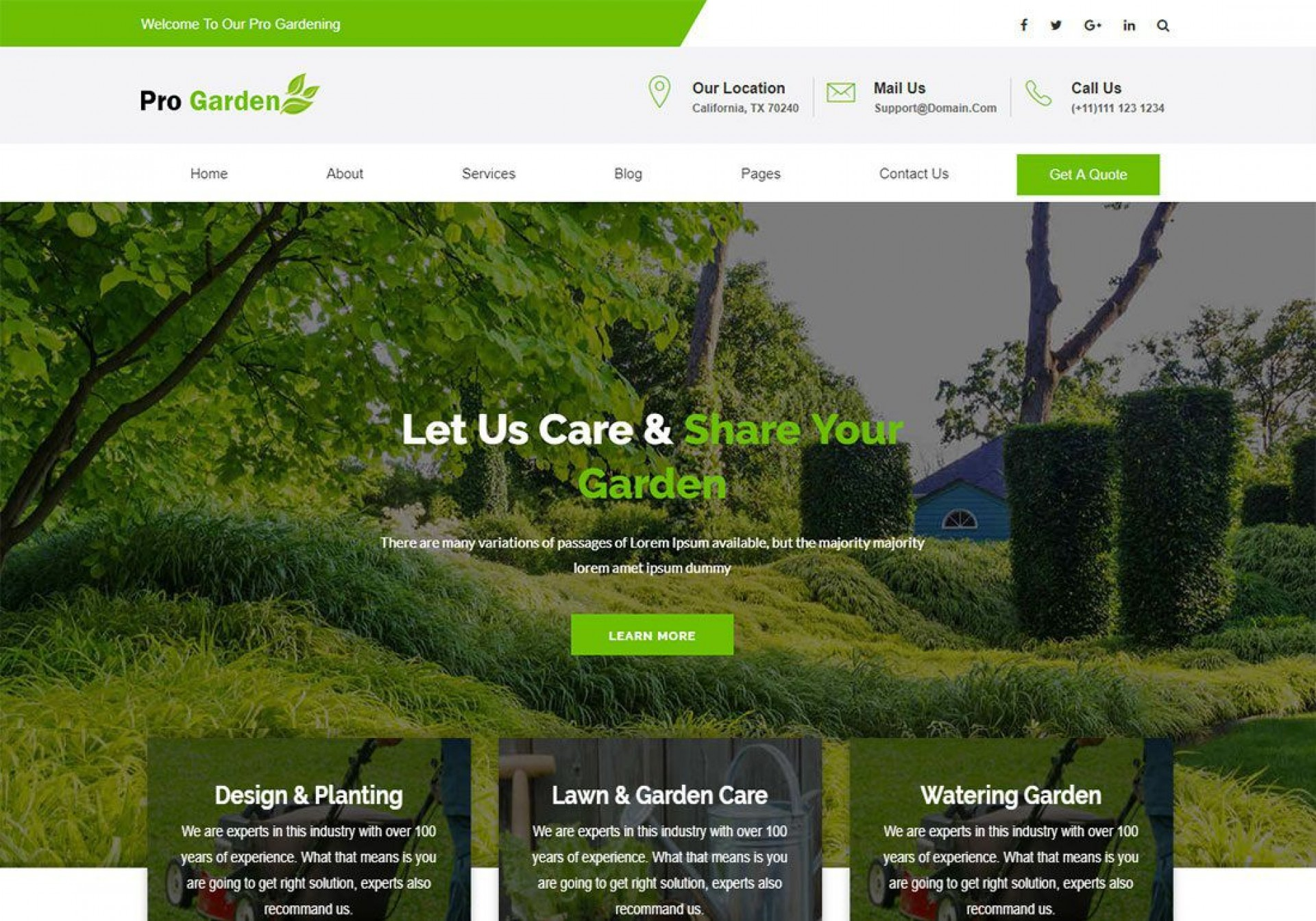 000 Frightening Lawn Care Website Template Sample 1920