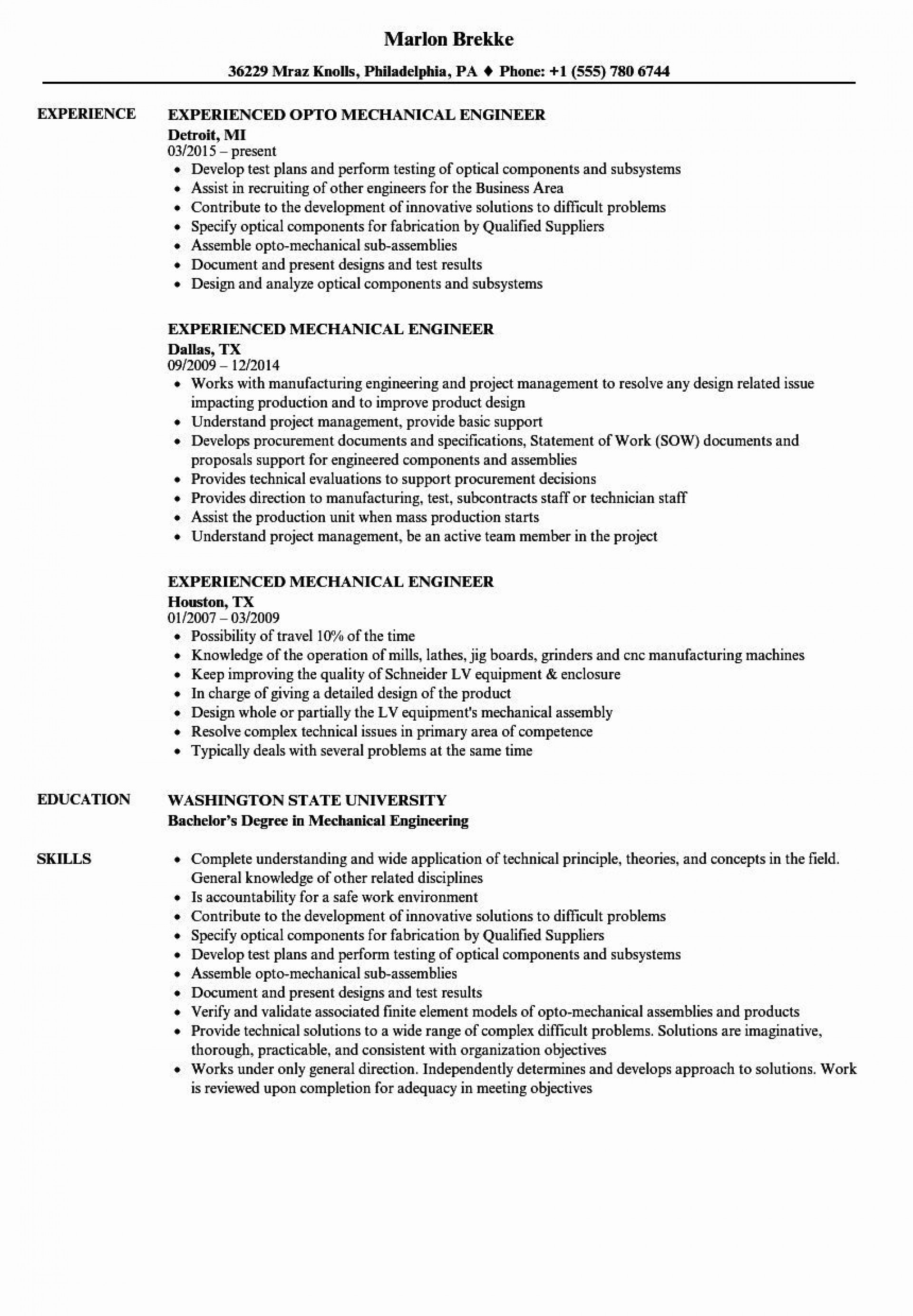 000 Frightening Mechanical Engineering Resume Template Example  Templates Engineer Cv Free Download Diploma Fresher Format Word Document1920