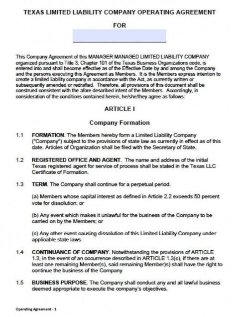 000 Frightening Operation Agreement Llc Template High Resolution  Operating Florida Indiana Single Member California480