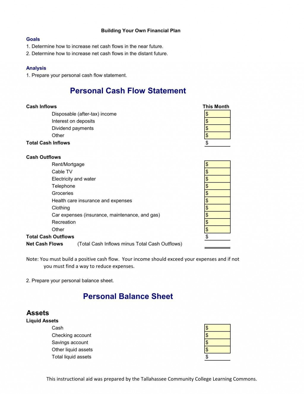 000 Frightening Personal Cash Flow Statement Template Sample  Analysi AnnualLarge