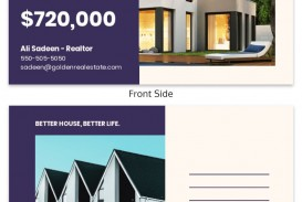 000 Frightening Real Estate Postcard Template Highest Clarity  Agent Free Microsoft Word Investor