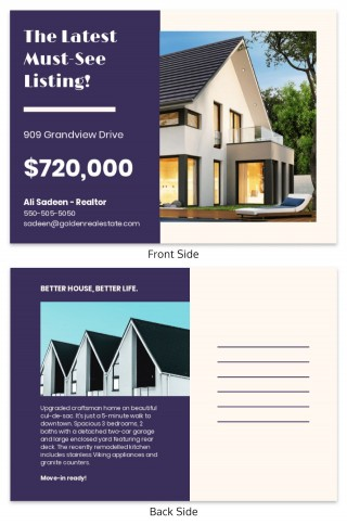 000 Frightening Real Estate Postcard Template Highest Clarity  Agent Free Microsoft Word Investor320
