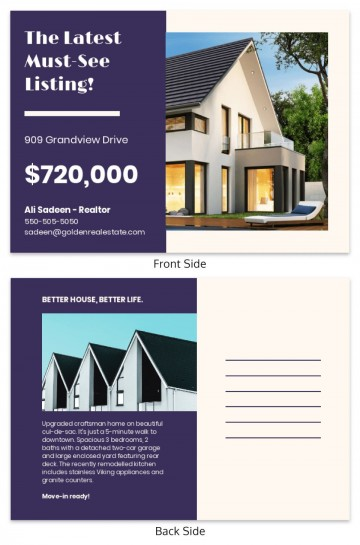 000 Frightening Real Estate Postcard Template Highest Clarity  Agent Free Microsoft Word Investor360