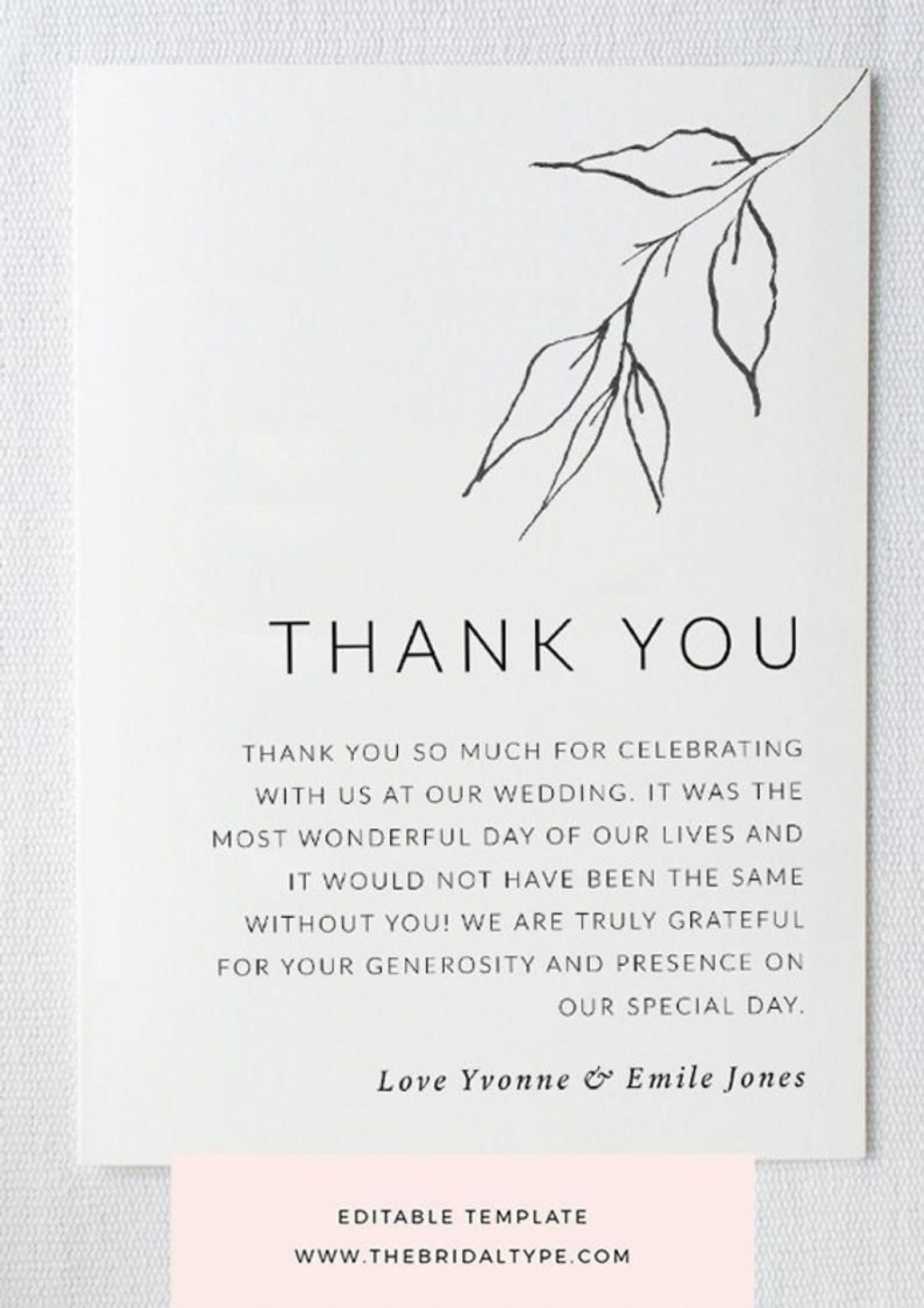 000 Frightening Thank You Note Template For Money Highest Quality  Card Wording Wedding Example Donation GraduationLarge