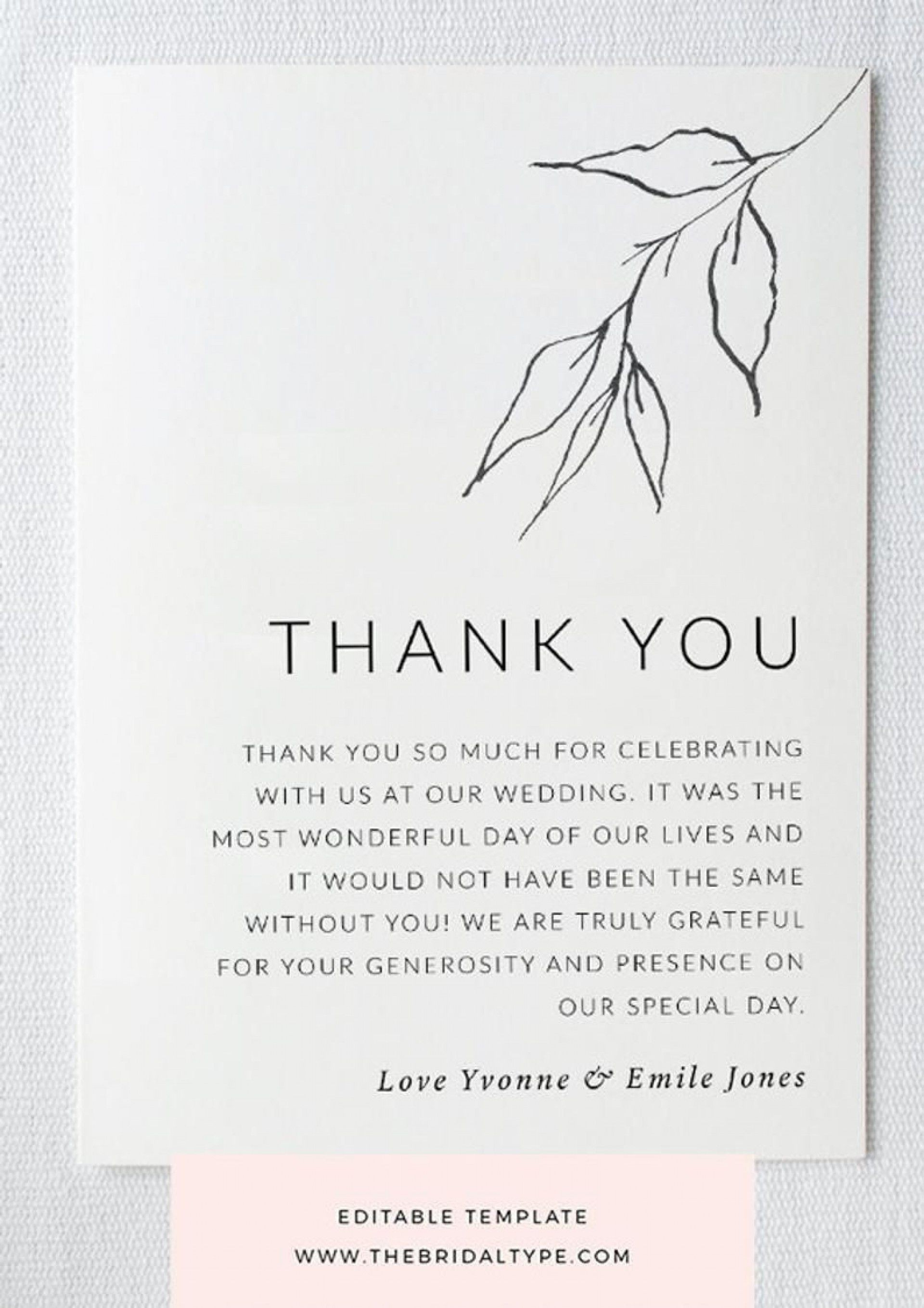 000 Frightening Thank You Note Template For Money Highest Quality  Card Wording Wedding Example Donation Graduation1920