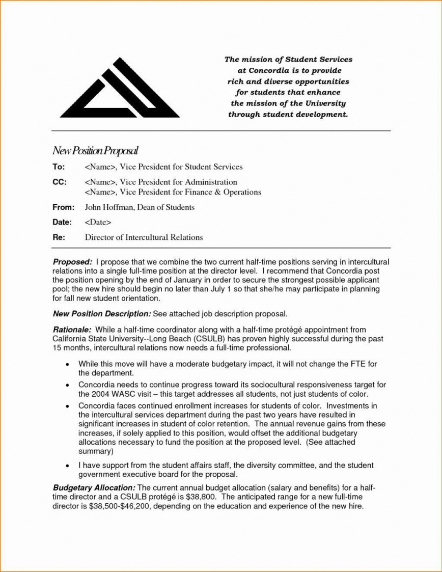 000 Frightening Writing A Job Proposal Template Sample High Definition 868