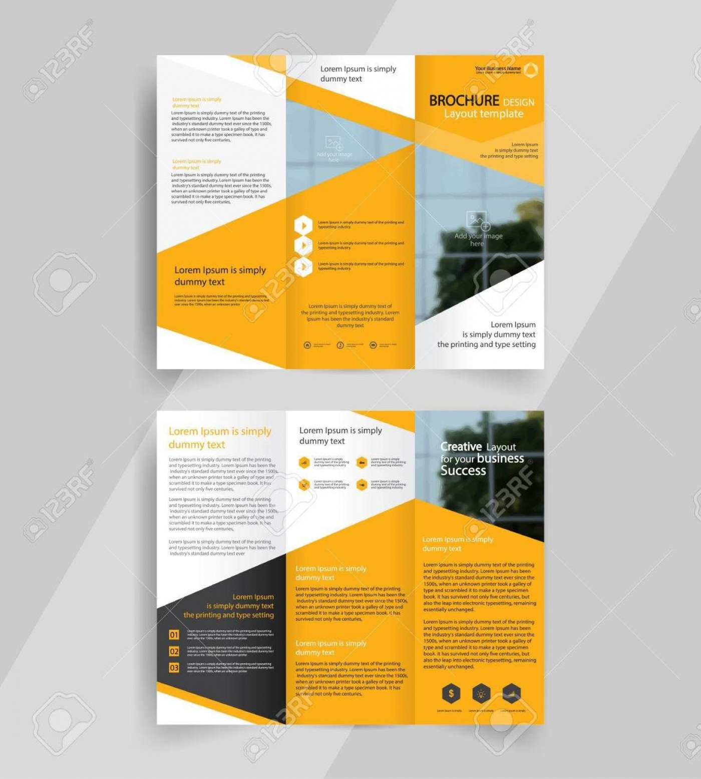 000 Imposing 3 Fold Brochure Template Concept  For Free1400
