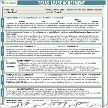 000 Imposing Apartment Lease Agreement Form Texa Photo 360