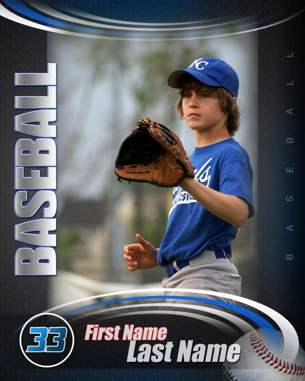 000 Imposing Baseball Card Template Photoshop Concept  Topp FreeLarge