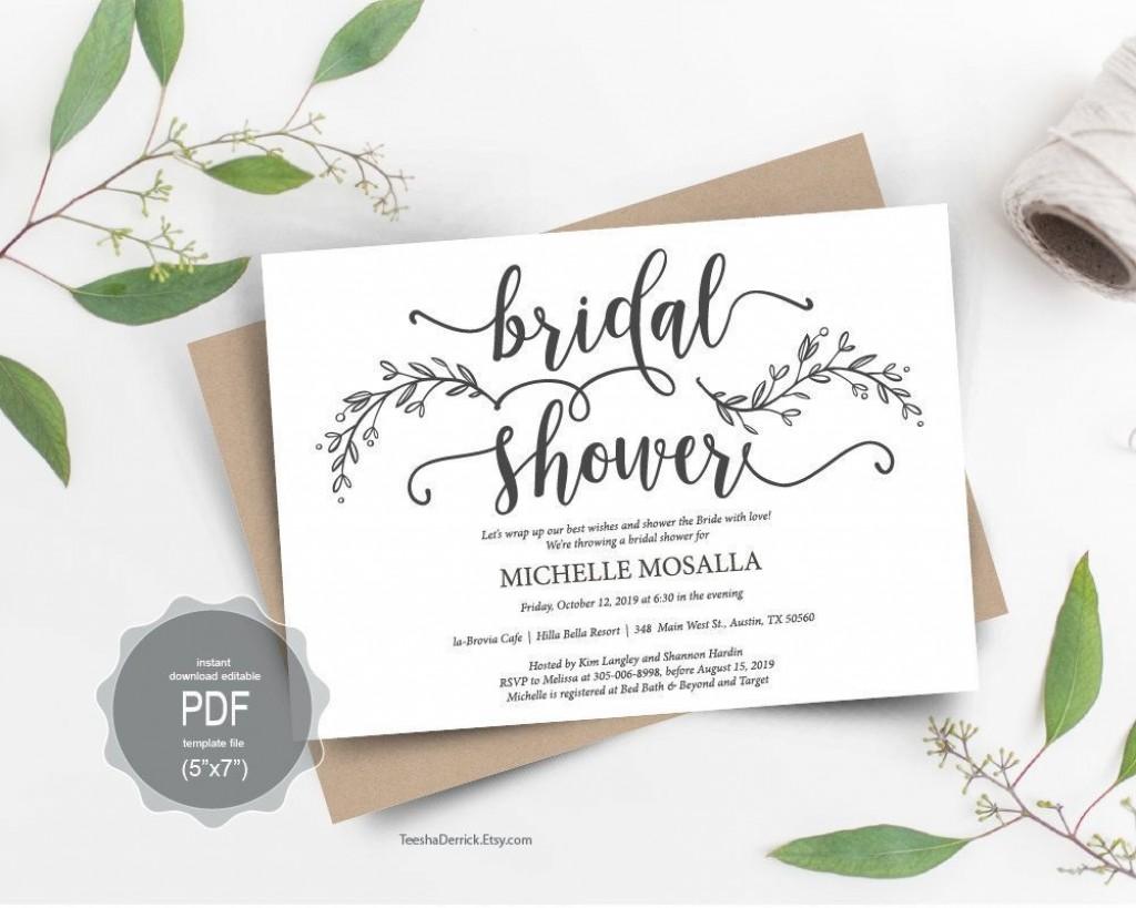 000 Imposing Bridal Shower Card Template Sample  Invitation Free Download BingoLarge