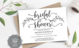 000 Imposing Bridal Shower Card Template Sample  Invitation Free Download Bingo