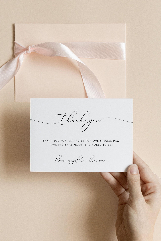 000 Imposing Diy Wedding Thank You Card Template Concept  Templates1920