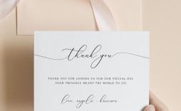 000 Imposing Diy Wedding Thank You Card Template Concept  Templates