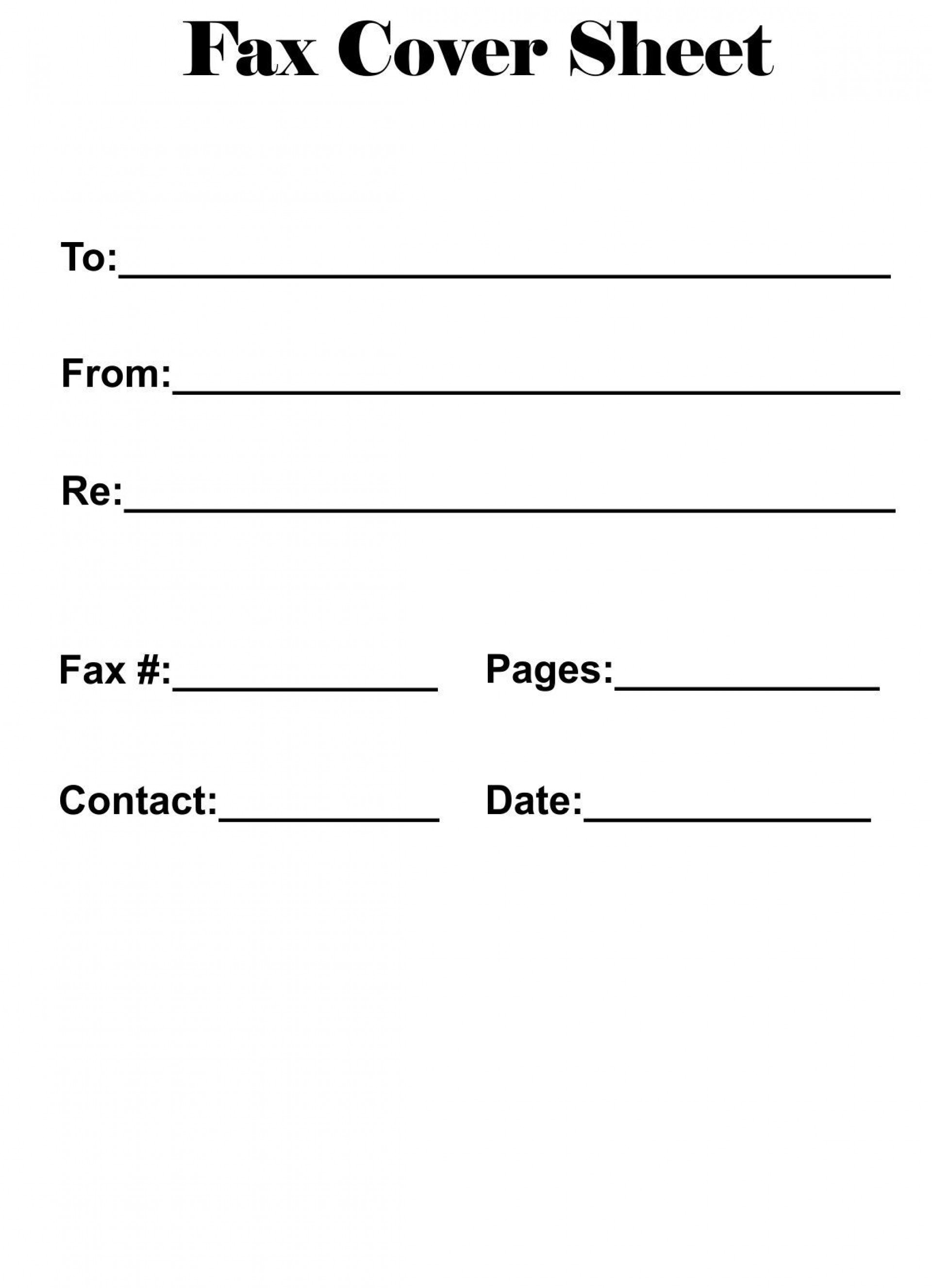 Fax Sheet Template Word from www.addictionary.org
