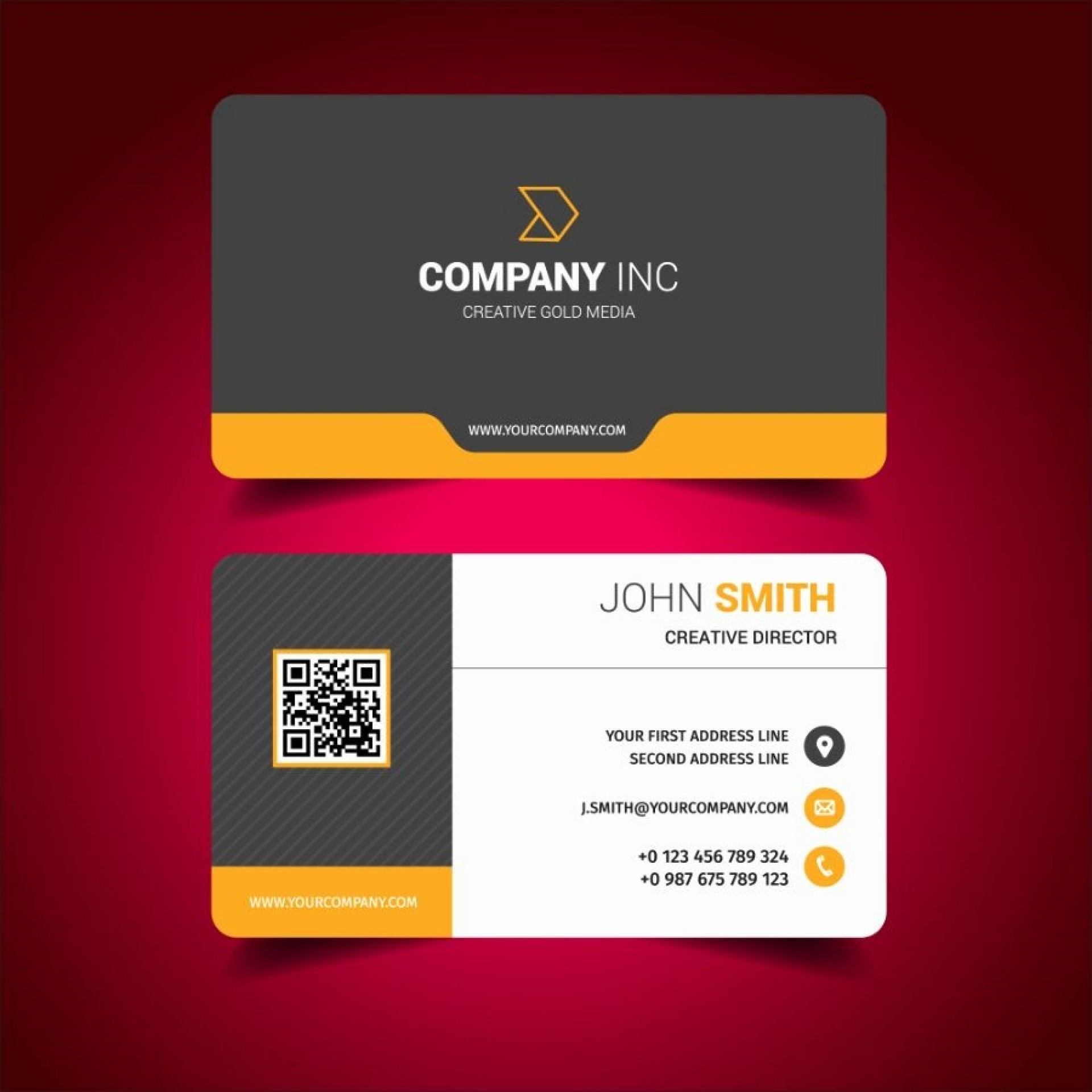 000 Imposing Free Busines Card Design Template  Templates Visiting Download Psd Photoshop1920