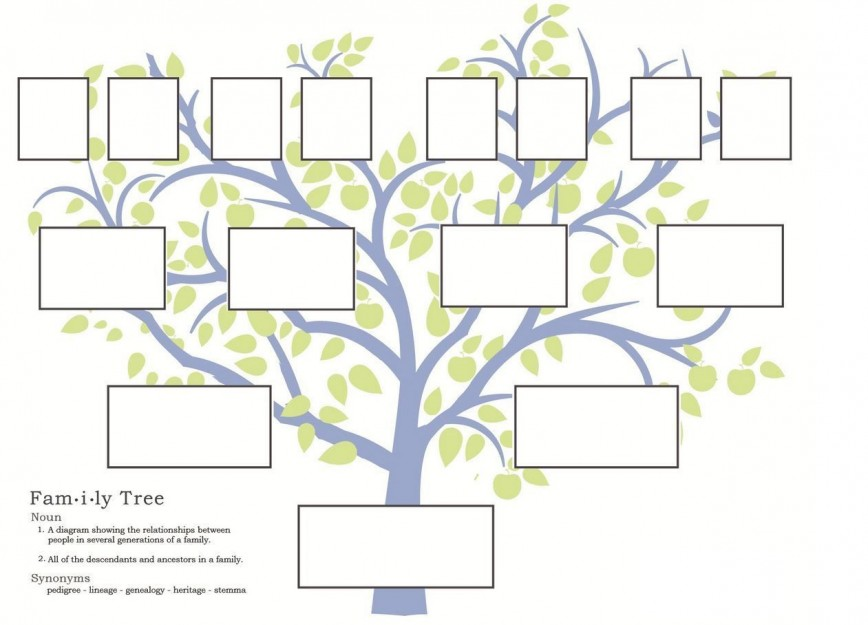 000 Imposing Free Family Tree Template Word Sample  Microsoft Blank