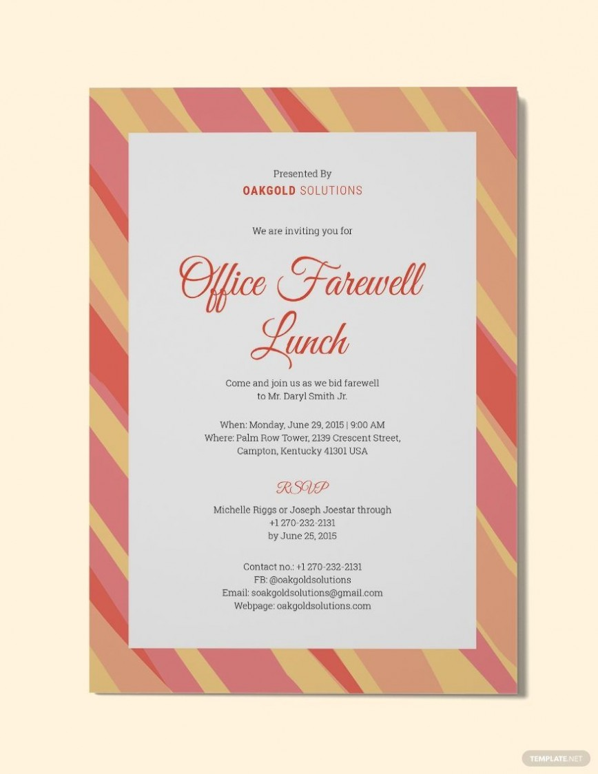 000 Imposing Free Luncheon Invitation Template For Word Sample  Brunch Dinner