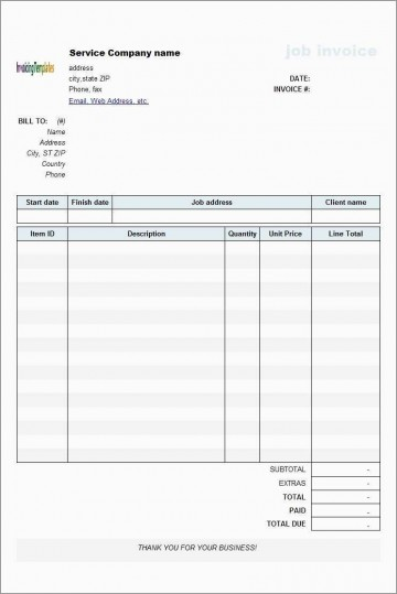 000 Imposing Microsoft Excel Invoice Template Free Highest Quality  Service Download360