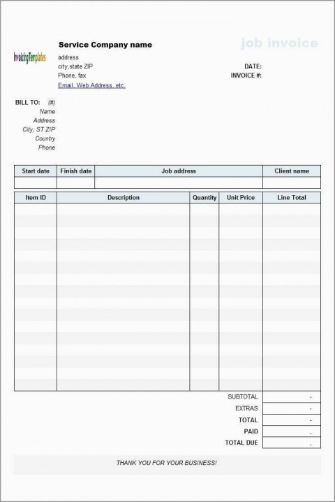 000 Imposing Microsoft Excel Invoice Template Free Highest Quality  Service Download480