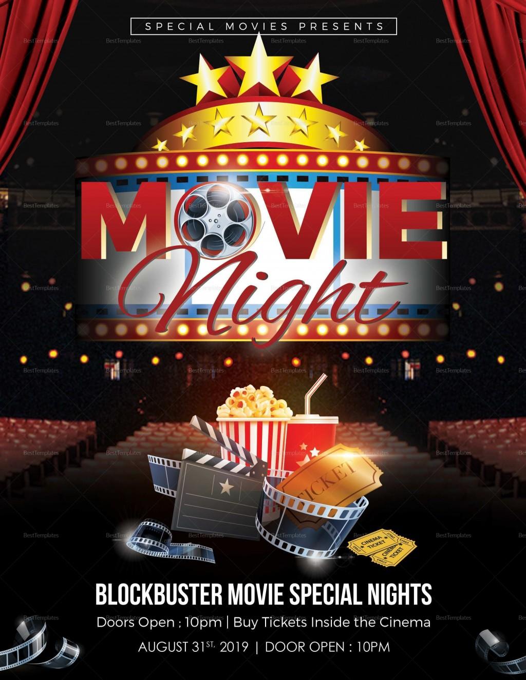 000 Imposing Movie Night Flyer Template High Definition  Templates Free Microsoft WordLarge