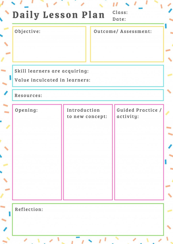 000 Imposing Printable Lesson Plan Template For Teacher Sample  TeachersLarge