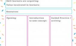 000 Imposing Printable Lesson Plan Template For Teacher Sample  Teachers