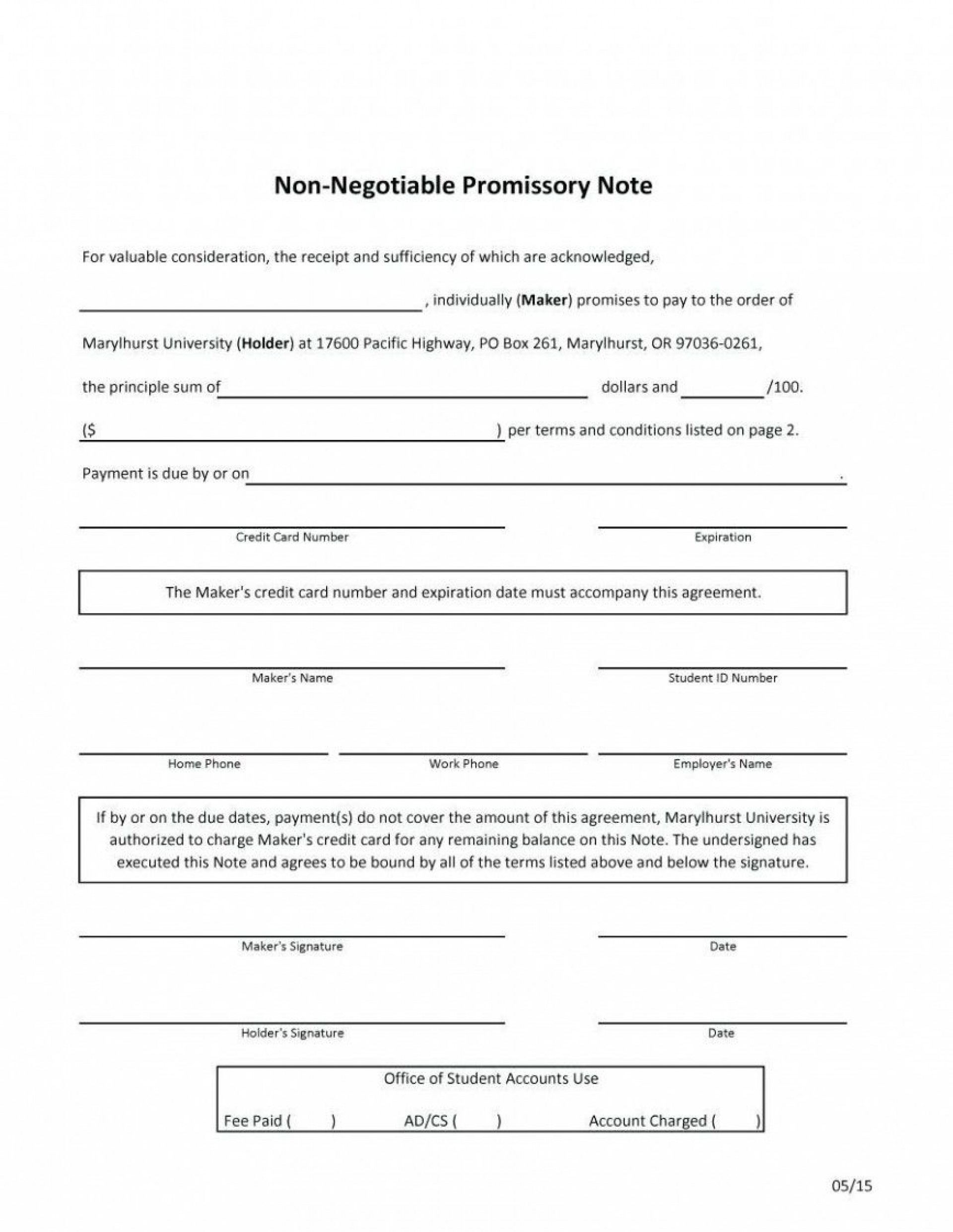 000 Imposing Promissory Note Template Microsoft Word Picture  Form Free1920