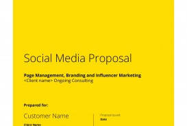 000 Imposing Social Media Proposal Template High Resolution  Plan Sample Pdf 2018
