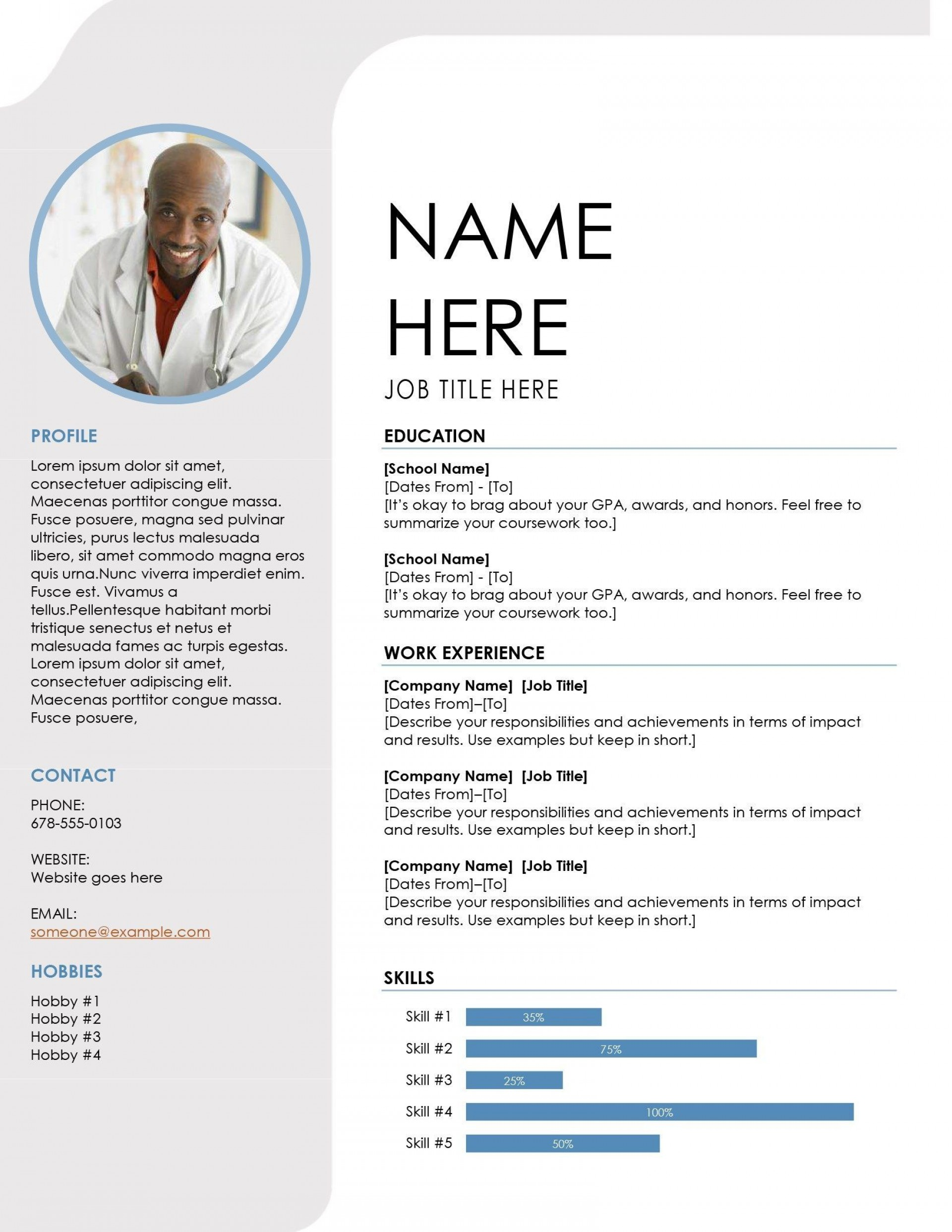 000 Imposing Student Resume Template Word Free Inspiration  College Microsoft Download High School1920