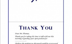 000 Imposing Thank You Note Template After Phone Interview Sample  Letter Example