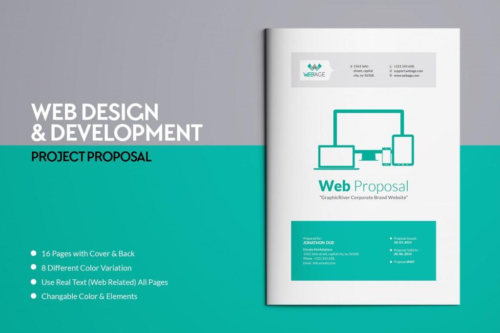 000 Imposing Web Design Proposal Template Indesign High Def Large