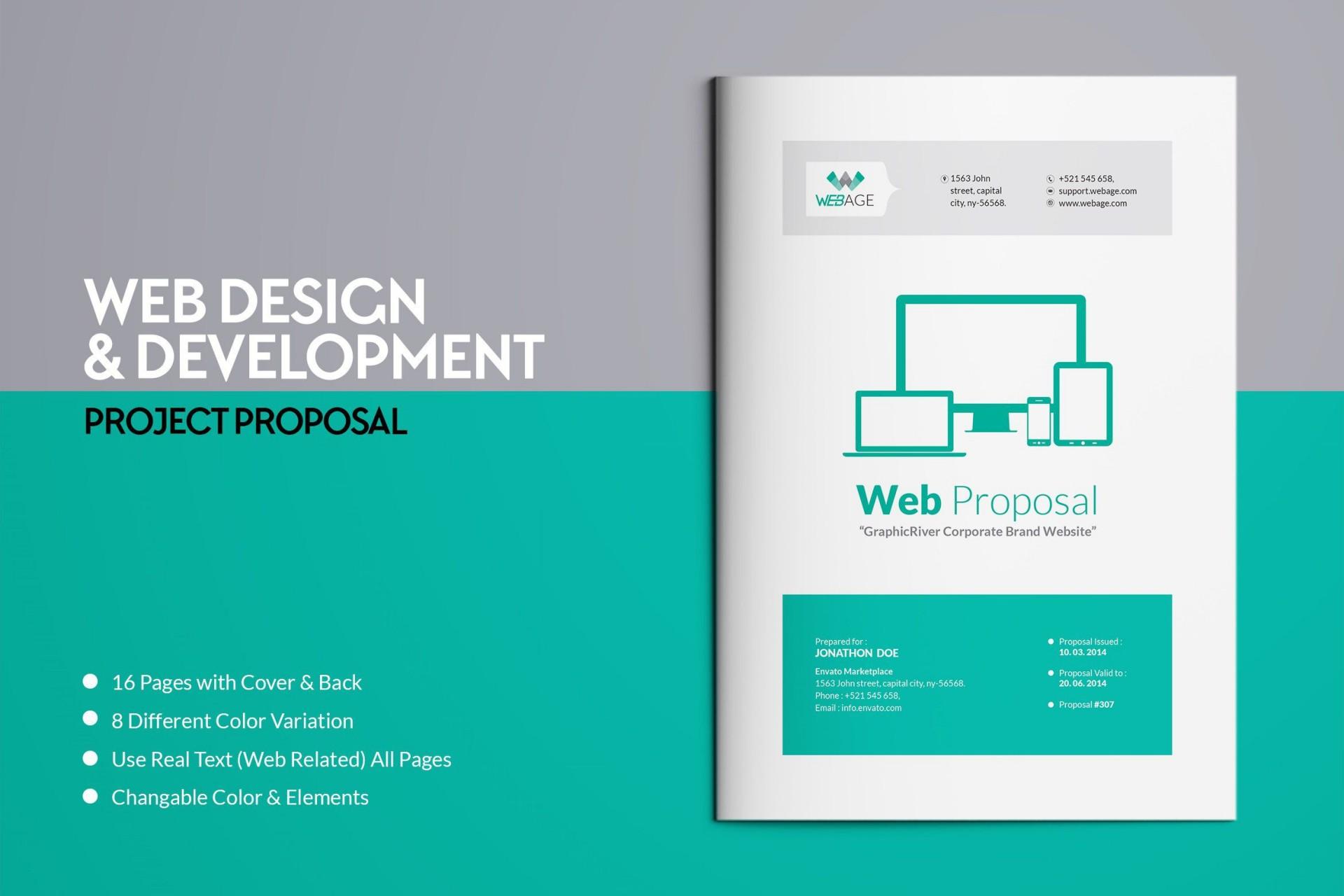 000 Imposing Web Design Proposal Template Indesign High Def 1920