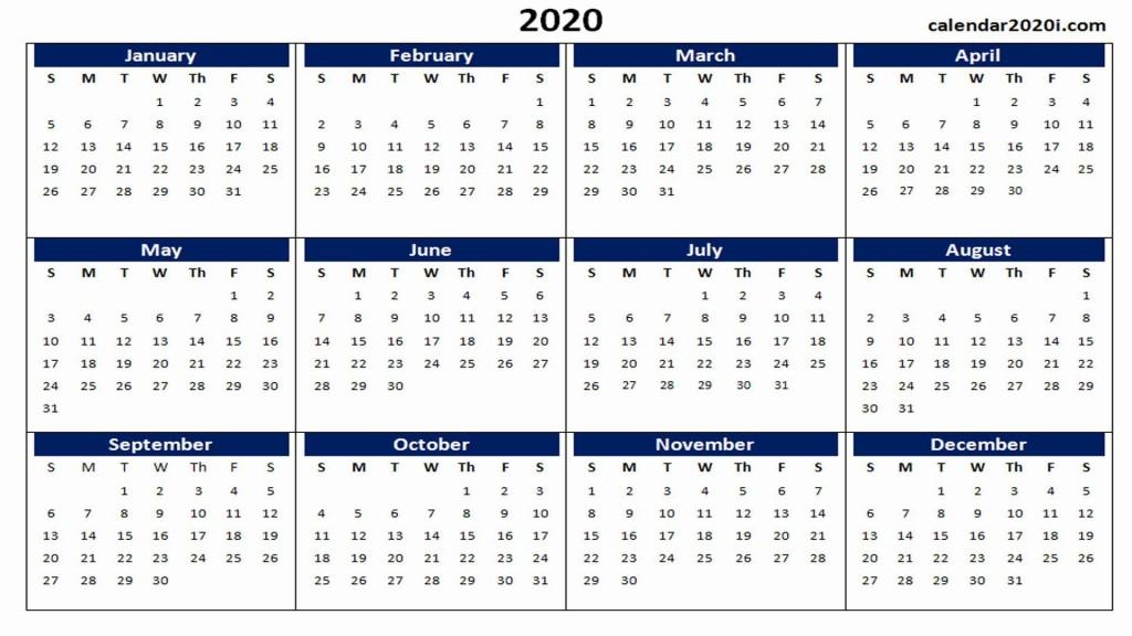 000 Impressive 2020 Yearly Calendar Template Sample  Word UkLarge