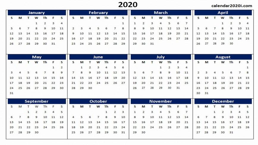 000 Impressive 2020 Yearly Calendar Template Sample  Free Excel Australia Editable