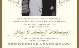 000 Impressive 50th Wedding Anniversary Invitation Card Template Picture  Templates Sample