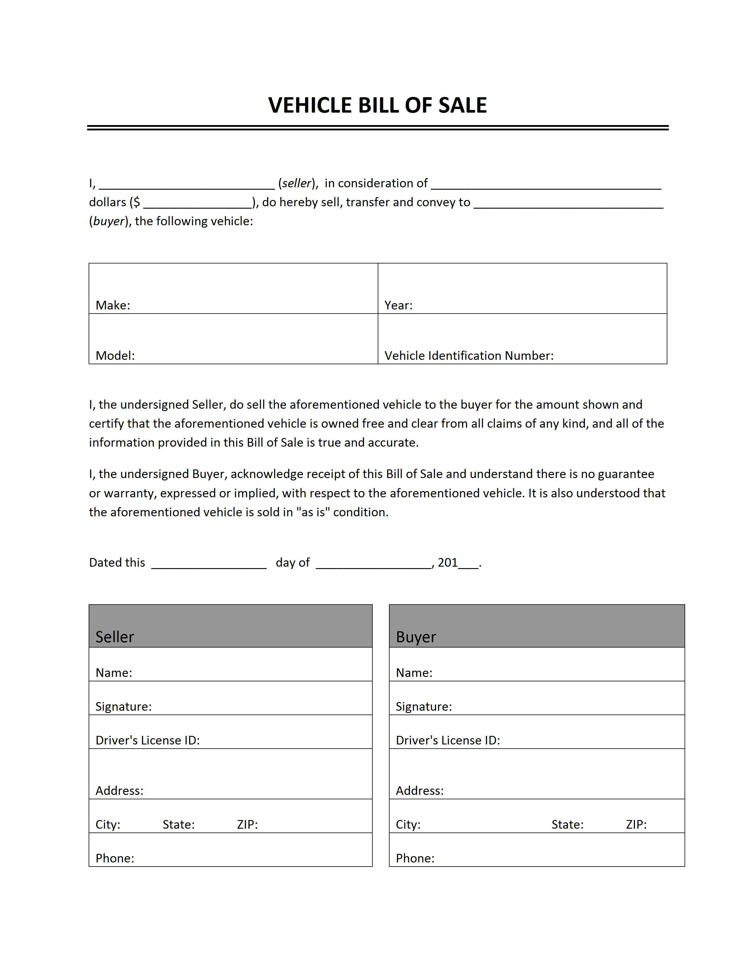 000 Impressive Automobile Bill Of Sale Template High Definition  Word Vehicle Fillable Pdf Texa With NotaryFull