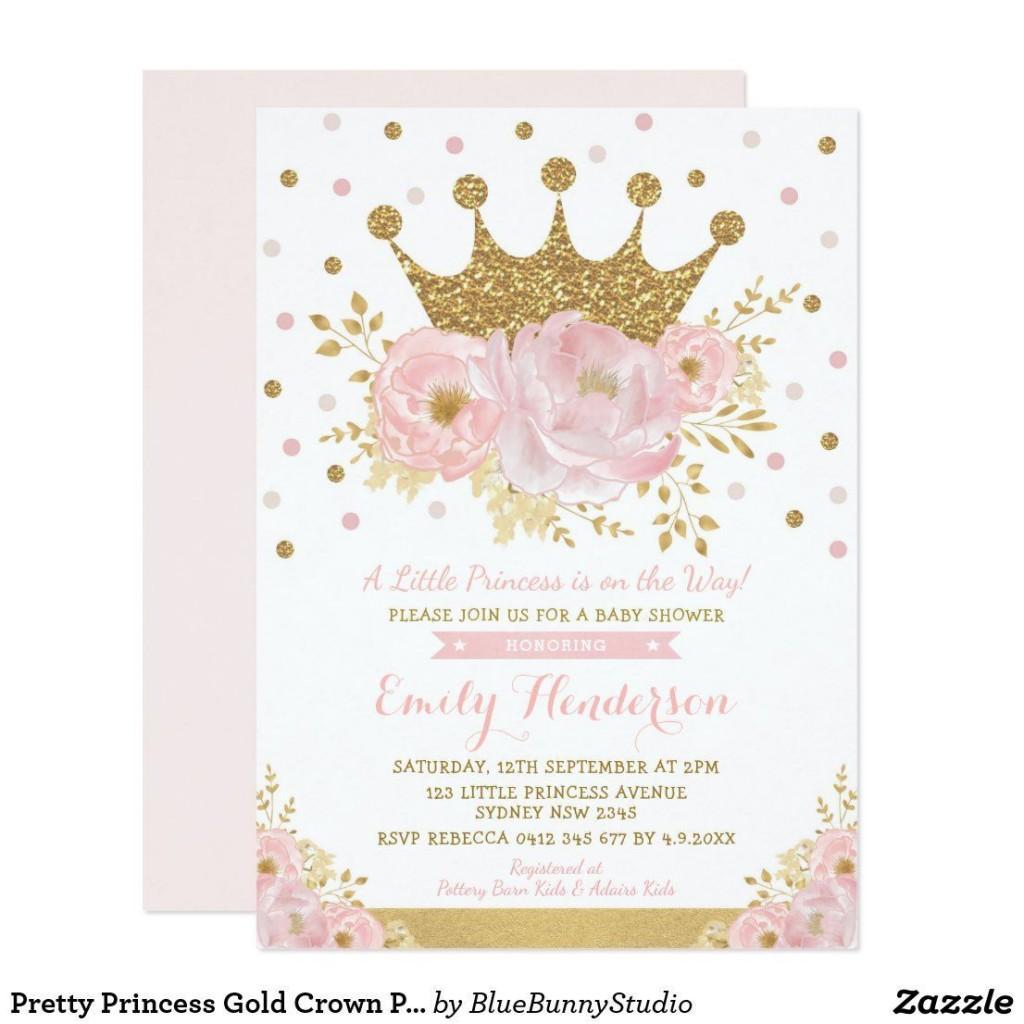 000 Impressive Baby Shower Invitation Girl Princes High Resolution  Princess ThemeLarge