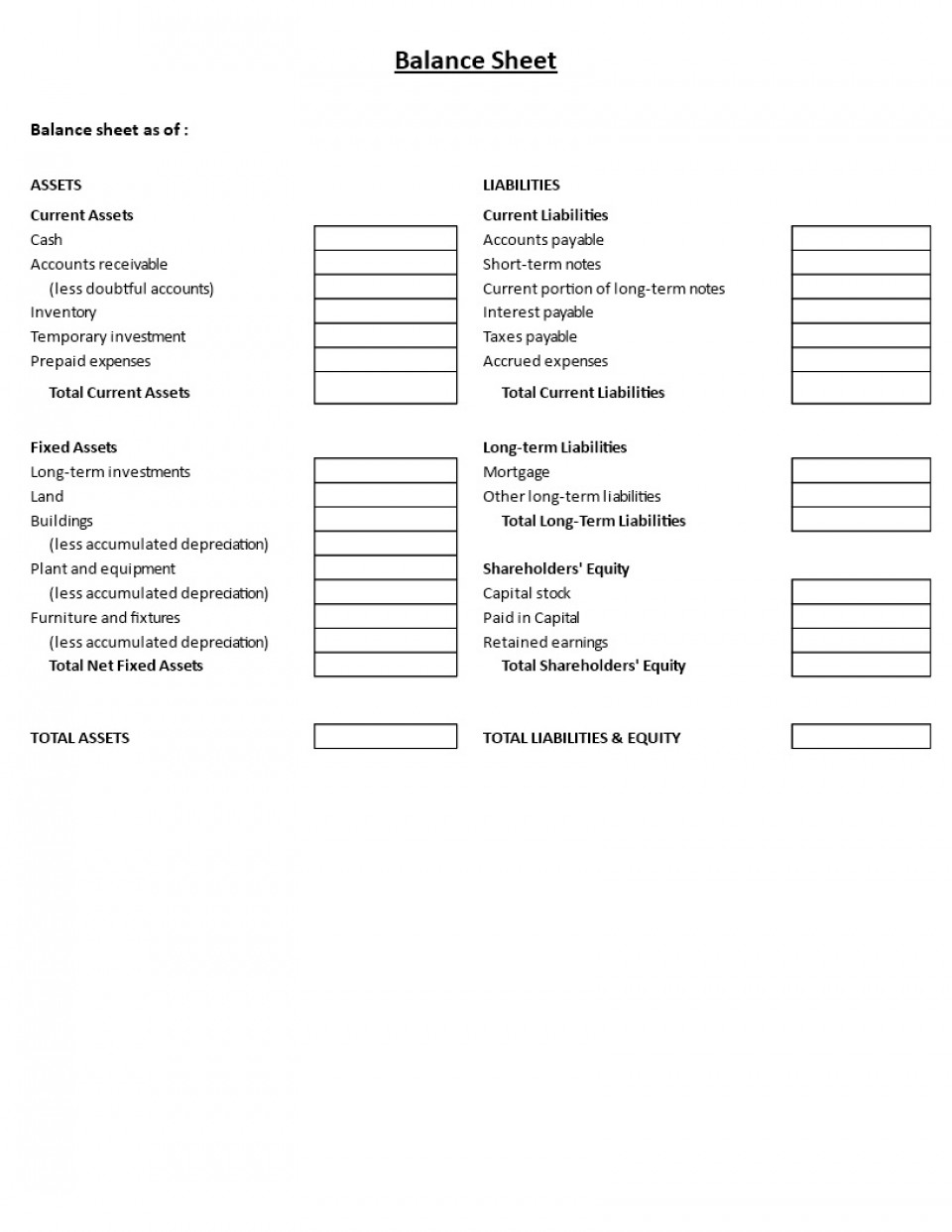 000 Impressive Basic Balance Sheet Template Picture  Simple Free For Self Employed Example Uk960