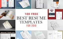 000 Impressive Best Free Resume Template 2020 Photo  Word Review