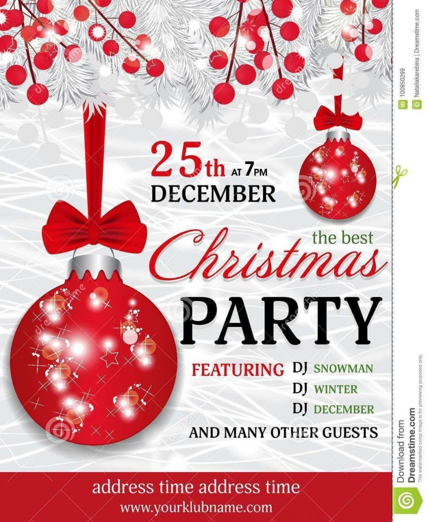 000 Impressive Christma Party Invite Template Free Download Concept  Invitation Holiday