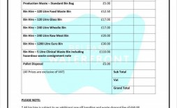 000 Impressive Cleaning Service Price List Template Example  Commercial Pdf
