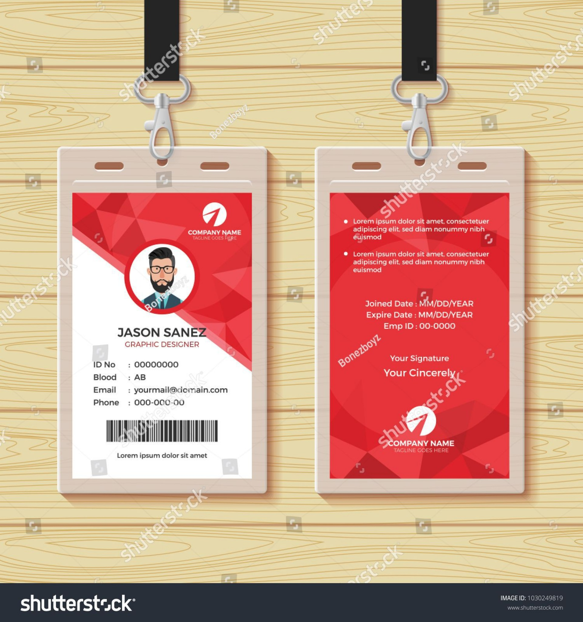 000 Impressive Employee Id Card Template High Def  Free Download Psd Word1920