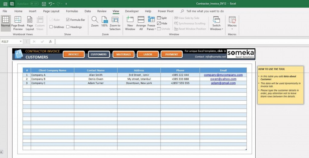000 Impressive Excel Customer Database Template Sample  Xl Free DownloadLarge