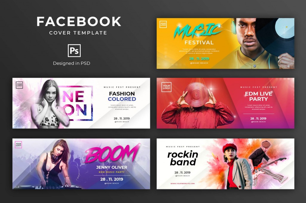 000 Impressive Facebook Cover Photo Photoshop Template  2019 Page Profile Picture SizeLarge