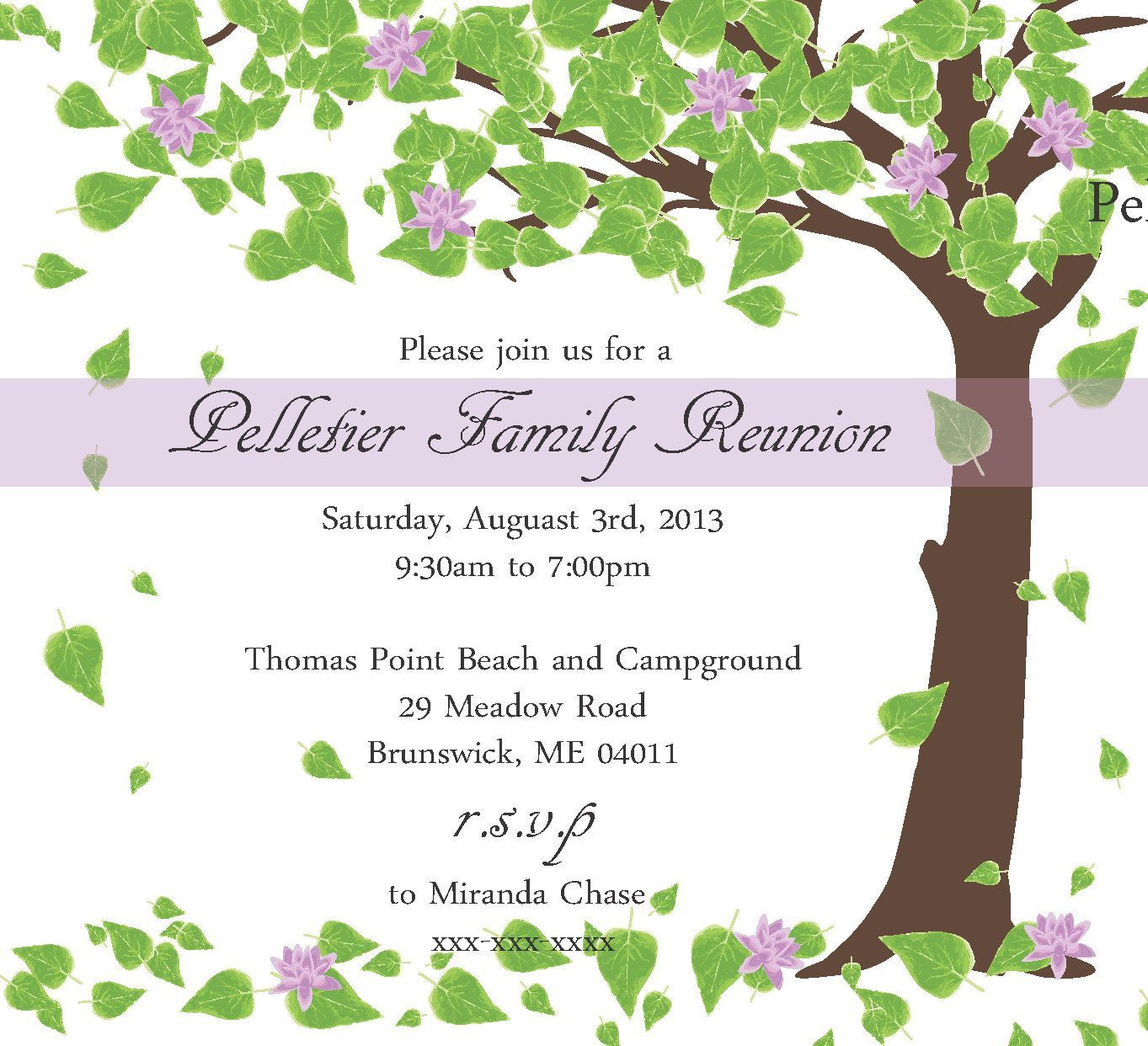 000 Impressive Family Reunion Invitation Card Template High Resolution Full