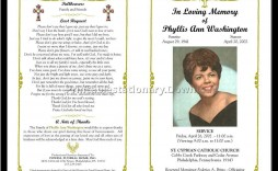 000 Impressive Free Celebration Of Life Program Template Download Concept