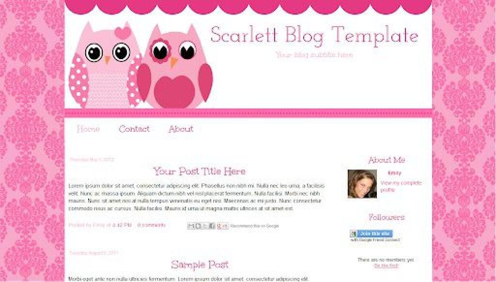 000 Impressive Free Cute Blogger Template High Def  TemplatesLarge