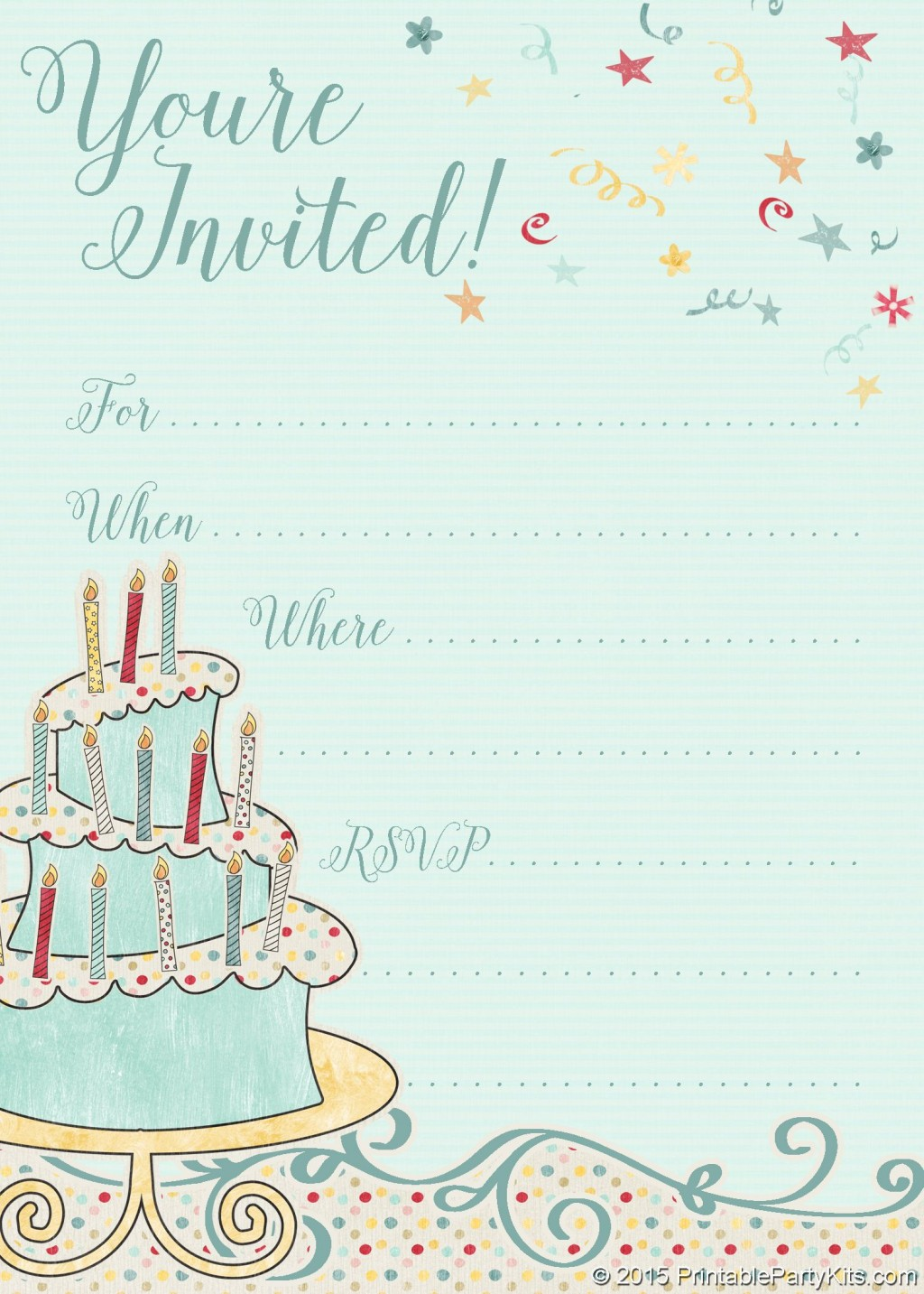 000 Impressive Free Online Birthday Party Invitation Template Picture  Templates MakerLarge