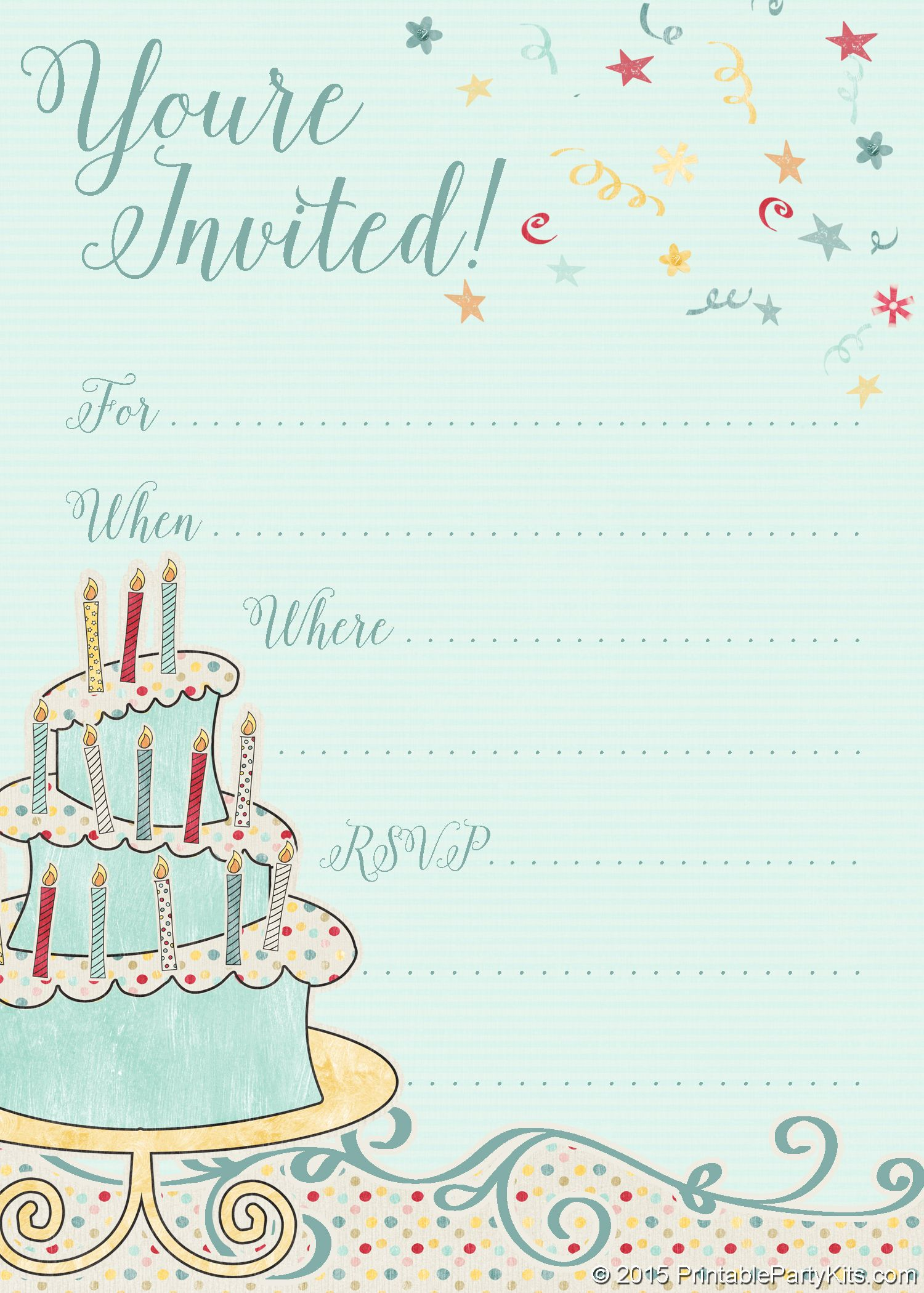 000 Impressive Free Online Birthday Party Invitation Template Picture  Templates MakerFull